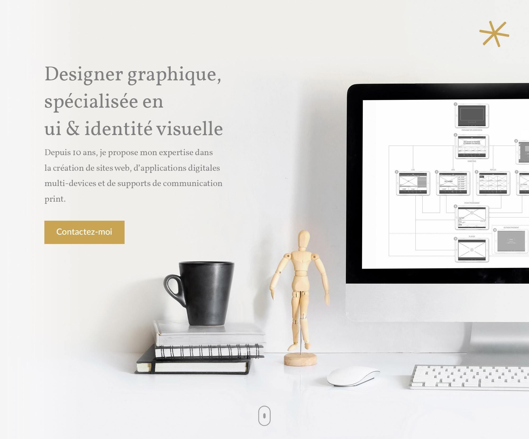 Designer graphique, spécialisée en ui & identité visuelle